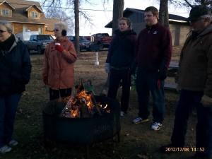 Christmas in the Park fire ring